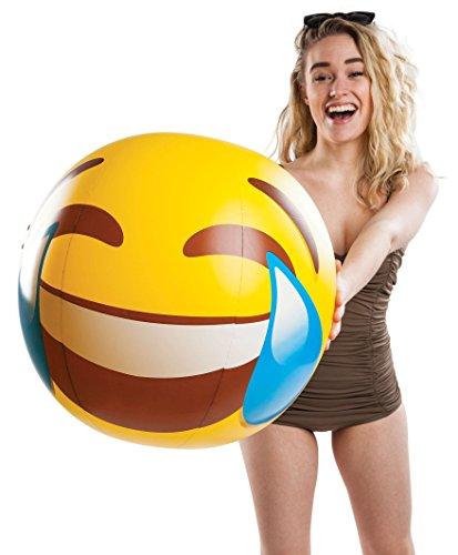 Bigmouth Inc Beach Balls  Tears Of Joy Emoji