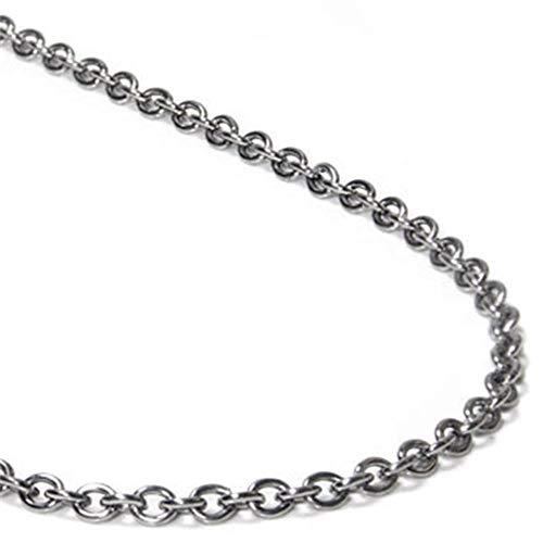 Titanium Rolo - Titanium 3MM Rolo Necklace Chain 28