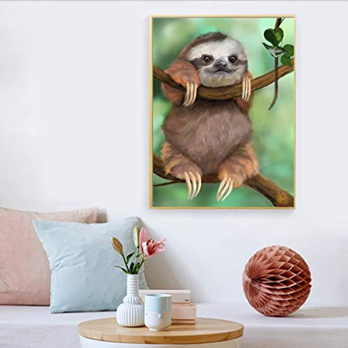 CapsA 5D DIY Diamond Painting Full Drill Arts Crafts Wall Stickers for Living Room Sloth Series