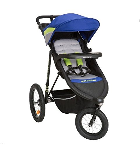 Schwinn Interval Jogging Stroller -Blue- Gray by Schwinn