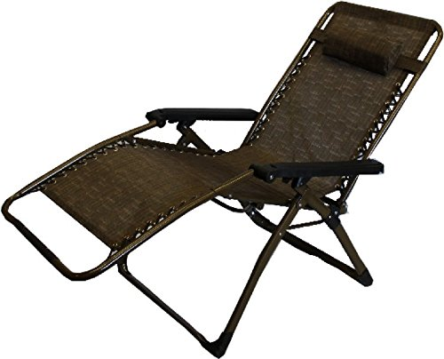 World Famous Sports Deluxe Zero Gravity Lounge Chair, Bronze