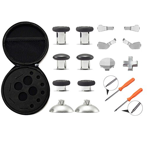 Xinkeen Xbox One Elite Controller Aluminum Alloy Replacement Kit with Swap Thumb Sticks Paddles Dpad and - Series Paddler