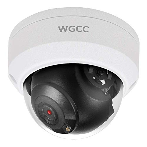 WGCC POE IP Dome Camera 4MP IP Security Camera 2.8MM Lens Indoor Outdoor Network Camera ONVIF Complaint with 98ft IR Night Vision, Motion Detection, Remote Viewing, IP67 Waterproof