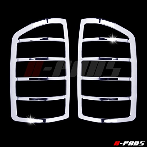 A-PADS Chrome Tail Light Covers for Dodge RAM [All Models] 2002-2006 - Rear Back Lights Taillight PAIR