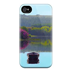 Durable Protector Case Cover With Boats On A Still Lake Hot Design For Iphone 4/4s