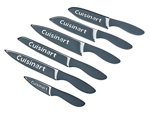 Cuisinart Ceramic Coated Knife Set, Blue/Grey (12 Piece) by Cuisinart