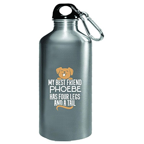 Dog Named Phoebe Gift Four Legs And A Tail Custom - Water Bottle (4 Light Phoebe)