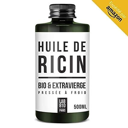ACEITE BIO DE RICINO 100% Puro y Natural. Prensado en Frío, Extra Virgen