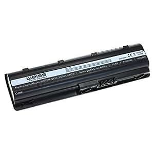 Blanco Laptop Batería para HP G72G42G56G62G72G4G6G74400mAh Li-Ion/HP Pavilion DM4DM4–1001TU DM4–1002TX DM4–1100DV3–4000DV5–2050ca dv5–2000DV6–3000dv6–6000HP Compaq Presario CQ32CQ42CQ43CQ56CQ62HP Envy 17, etc. 4400mAh Li-Ion