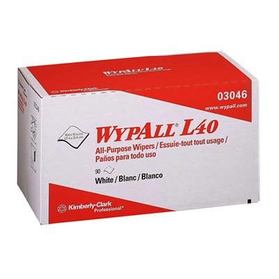 Wypall L40 Wipes (WypAll L40 Disposable Cleaning and Drying Towels (03046), Limited Use Towels, White, 9 Pop Up Boxes per Case, 90 Sheets per Box, 810 Sheets Total)