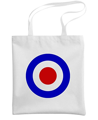 MOD TARGET - uk british who music retro - Heavy Duty Tote Bag, White
