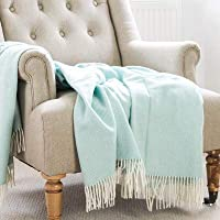 Home Touch 100% Cotton Throw Blanket/AC Comforter/Mat/Sofa Cover (125cm x 150cm,Zig zagblue)