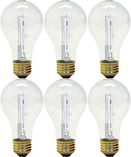 - GE Lighting 043168787963 78796 43 Watt Clear A19 Halogen Light Pack of 3 (Each 2 Bulbs)