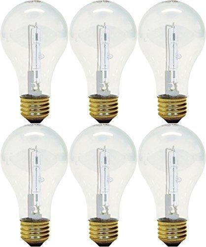 GE Lighting 043168787963 78796 43 Watt Clear A19 Halogen Light Pack of 3 (Each 2 Bulbs) (Clear General Purpose Light Bulb)
