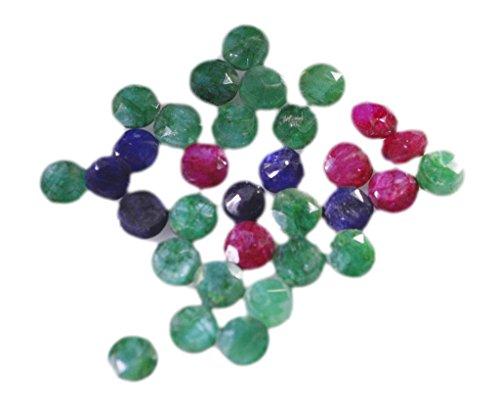 pierres précieuses en vrac rubi teints 1 pièces 5 x 5 mm rondes pierres précieuses facettes multiples