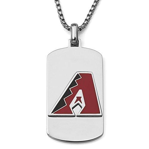 (MLB Arizona Diamondbacks Necklace, Red/Black/Silver, One)