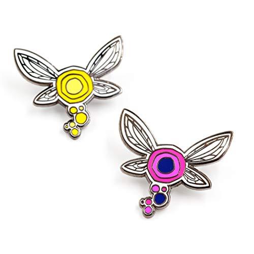 Little Shop of Pins Zelda Tatl and Tael Fairy Enamel Pin - Fairy Button Pin