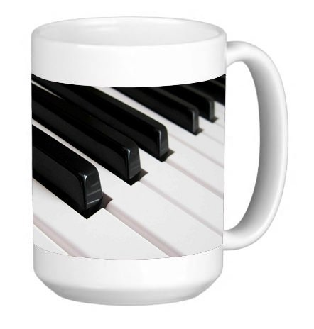 Grand Piano 15 Ounce Ceramic Coffee Mug Tea Cup ()