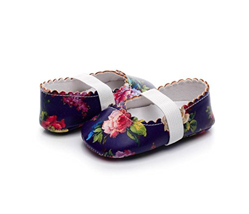 Clode® Fashion Floral Printing Walkers Prinzessin Ballett Solide Weiche Sohle Anti-Rutsch-Schuhe Lila