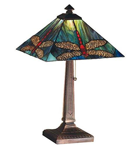 Meyda Tiffany 26290 Prairie Dragonfly Table Lamp, 21