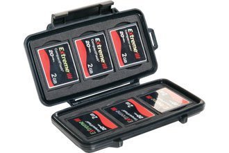 Pelican 0945 Compact Flash Memory Card Case (Black) Resin Memory