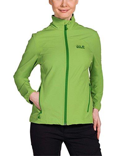 Jack Wolfskin Softshelljacke Motion Flex JKT - Soft shell para mujer, color verde, talla m Parrot Green