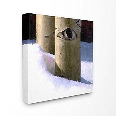 Stupell Industries Snowy Aspen Tree Eye Painting Canvas Wall Art, 24 x 24, Multi-Color