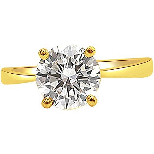 Surat Diamonds 18KT Yellow Gold and Diamond Ring for Women