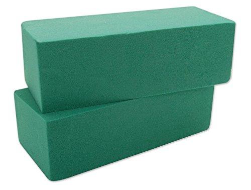 Floral Foam Blocks | Florist Flower Styrofoam Green Bricks Applied Dry or Wet | Set of ()