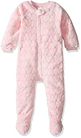 The Children's Place Little Girls and Toddler Long Sleeve Blanket Pajamas, Heart Pink, 2T - Girls Pink Sleeper