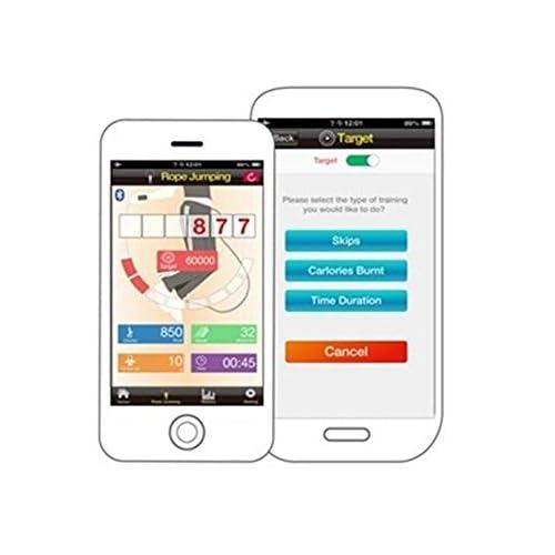 Bluetooth sans fil numérique portable sans fil Corde à sauter Corde à sauter avec compteur de calories et de comptage de Jump pour utilisation intérieur extérieur