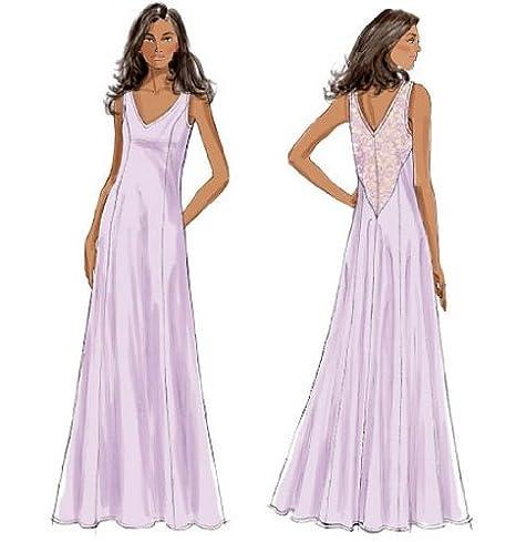 Butterick Patterns B5963 A5 - Patrones de costura para camisones, batas, camisetas, pantalones y bolsa guardapijamas, color blanco: Amazon.es: Hogar