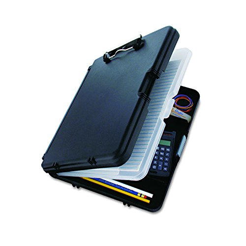 Saunders Black WorkMate II Clipboard with Gray Hinges – Plastic Storage Clipboard for Students, Teachers, Sales, Utility, Industrial, Office Professional. Stationery Supplies by Saunders