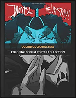 coloring book poster collection colorful characters jinbe anime