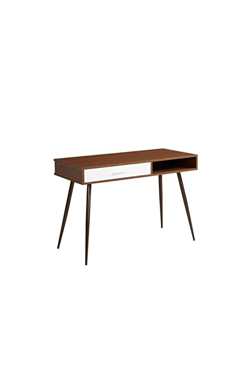 ROSET Bureau scandinave décor noyer - L 110 cm: Amazon.es: Hogar