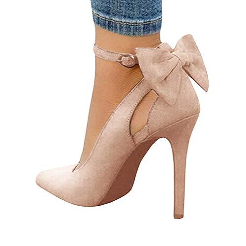 Fiesta Alto Boda Apuntado Tomwell Zapatos Mujer Tacón Sandalias Arco Rosa g6n7xwqR8I