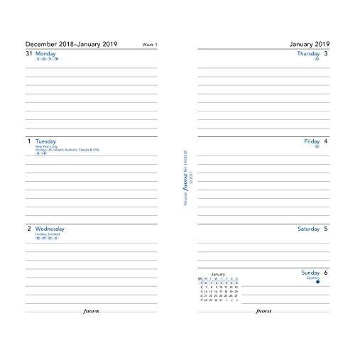 Filofax personal refills 2019