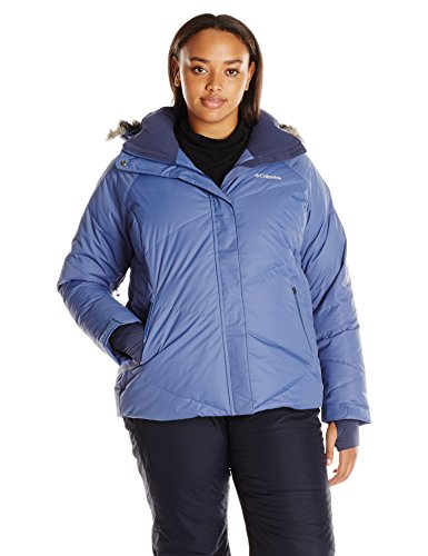 D Down Jacket (Plus Size), Bluebell, 1X ()