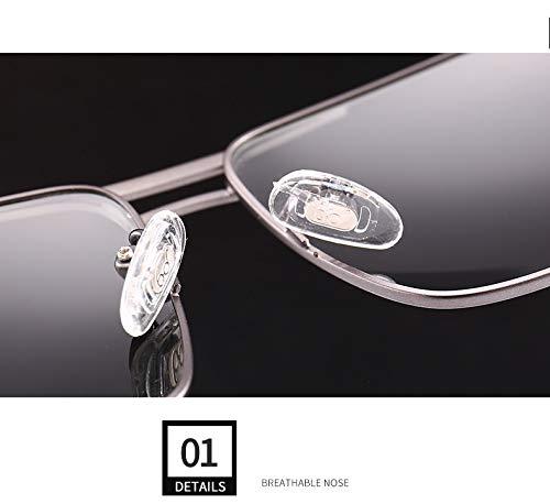Hommes Nez polarisées de Lunettes Protection Lunettes Pads pour Soleil conduisant Miroir Mode de Respirant Lunettes UV400 de Voyage Ruanyi Gun Couleur 5HqEnFwX5p