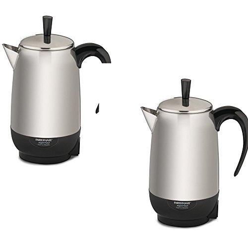 Fcp280 Percolator Farberware - FarberwareBlack/Silver 8-Cup Percolator - Farberware Model - FCP280 - Set of 2 Gift Bundle