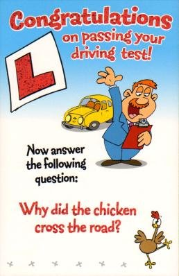 congratulations on passing your drivers test