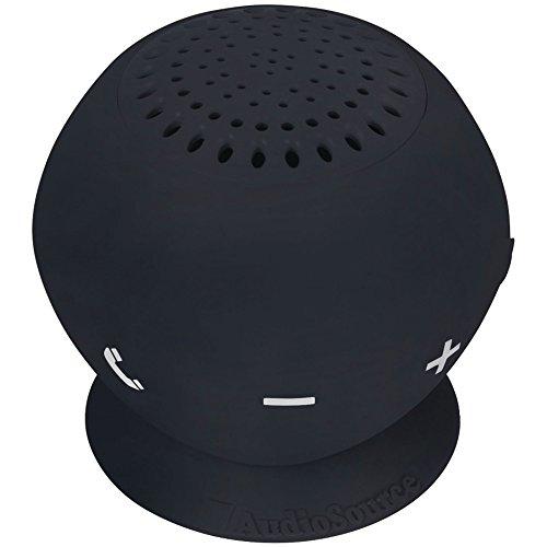 AUDIOSOURCE SP2BLA Sound pOp 2(TM) Water-Resistant Bluetooth(R) Speaker (Black) Computers, Electronics, Office Supplies, Computing