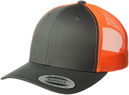 d48828526afc7e Flexfit/Yupoong Men's YP Classics Retro Trucker 2-Tone, Charcoal/Neon Orange