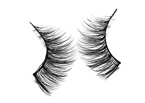 Trcoveric 3D False Eyelashes Makeup Hand-made Looks Natural Volume Wispies Fluffy Long Fake Lashes Reusable 3 Pair Pack ()