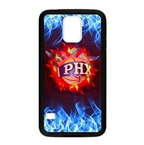 Phoenix Suns Logo Theme Back TPU Case for Samsung Galaxy S5 (Laser Technology)-by Allthingsbasketball