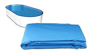 Pool Protector de pantalla para ovalado Pool L: 7,20m x B: 3,60m x h: 1,20m hasta 1,35m–Grosor 0,40mm–überlappend