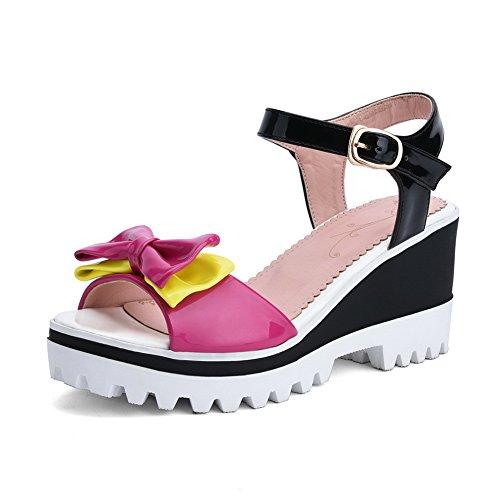 AN Womens Sandals Peep-Toe Huarache Urethane Sandals DIU00636 Red YFltlAHA9Q