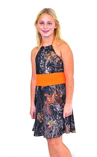 Camo Diva Annie Blaze Camouflage Youth Girls Flower Girl Formal Dress ... (Large) (Toddler Mossy Oak Flower Girl Dress)