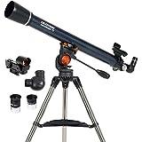 Celestron - AstroMaster 70AZ Telescope - Refractor Telescope - Fully Coated Glass Optics - Adjustable Height Tripod – BONUS Astronomy Software Package