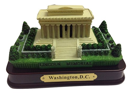 Lincoln Memorial Desk Statue with wood base , Washington DC Souvenirs, Washington D.C. Gifts